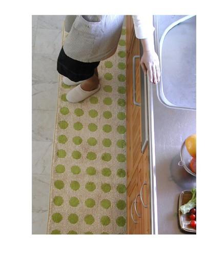 水玉綿100%キッチンマット ポルカドット 写真