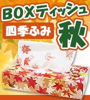 秋ティッシュボックス