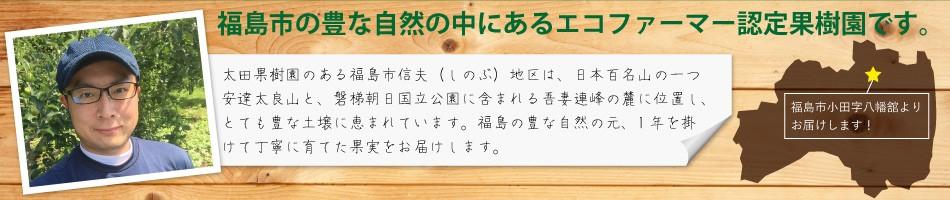 福島の豊かな自然の中にあるエコファーマー認定果樹園です