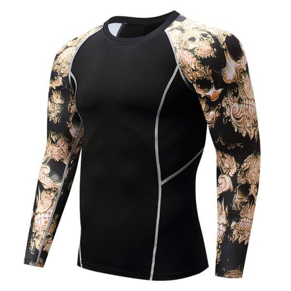 加圧インナー アンダーシャツ メンズ 加圧シャツ コンプレッションウェア 吸汗 速乾 トレーニングウェア スポーツウェア 長袖|otasukemann|27