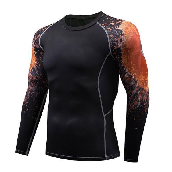加圧インナー アンダーシャツ メンズ 加圧シャツ コンプレッションウェア 吸汗 速乾 トレーニングウェア スポーツウェア 長袖|otasukemann|26