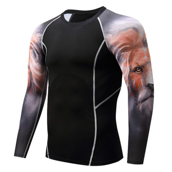 加圧インナー アンダーシャツ メンズ 加圧シャツ コンプレッションウェア 吸汗 速乾 トレーニングウェア スポーツウェア 長袖|otasukemann|25