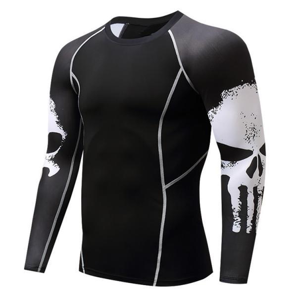 加圧インナー アンダーシャツ メンズ 加圧シャツ コンプレッションウェア 吸汗 速乾 トレーニングウェア スポーツウェア 長袖|otasukemann|24