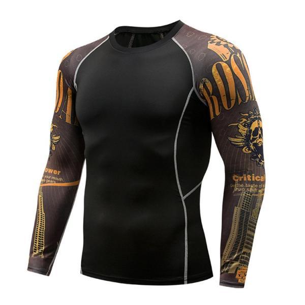加圧シャツ アンダーシャツ メンズ 長袖 コンプレッションウェア トレーニングウェア 加圧インナー 吸汗速乾 運動着 おしゃれ|otasukemann|28