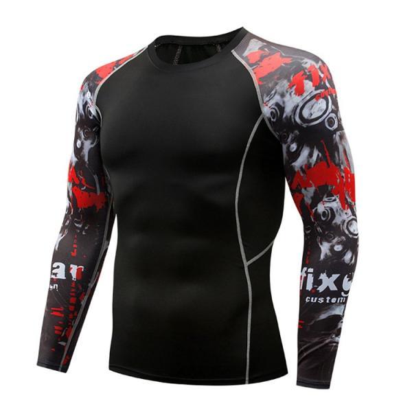 加圧シャツ アンダーシャツ メンズ 長袖 コンプレッションウェア トレーニングウェア 加圧インナー 吸汗速乾 運動着 おしゃれ|otasukemann|27