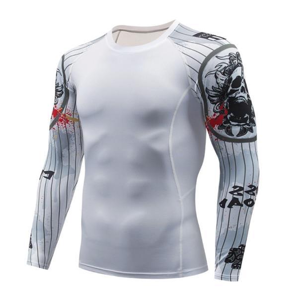 加圧シャツ アンダーシャツ メンズ 長袖 コンプレッションウェア トレーニングウェア 加圧インナー 吸汗速乾 運動着 おしゃれ|otasukemann|18