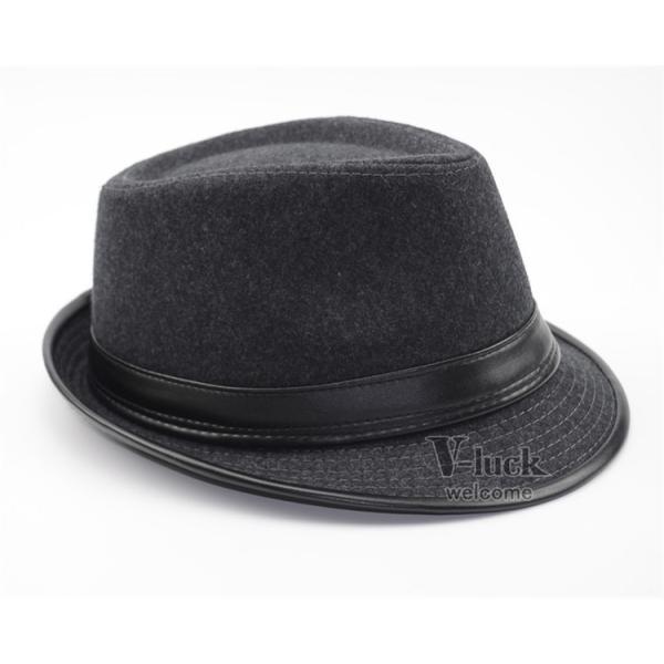中折れ帽 メンズ 帽子 おしゃれ ハット 中折れハット 紫外線防止 日よけ帽子 紳士用 フェルトハット 頭周り58CM 2019 セール|otasukemann|22