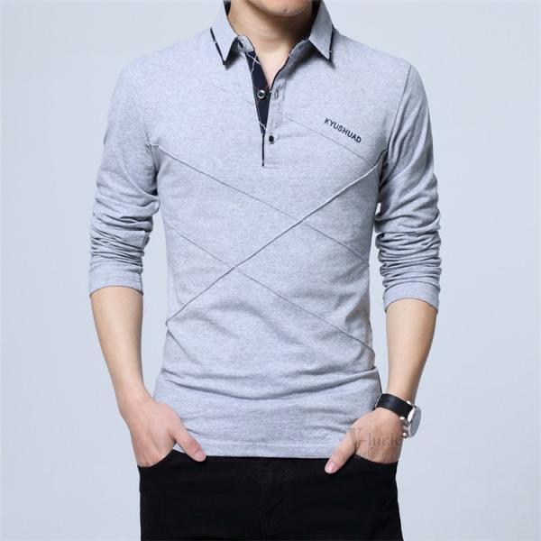ポロシャツ ビジネス メンズ 長袖 POLOシャツ カジュアル ゴルフシャツ スポーツウェア ルームウェア トップス Tシャツ 部屋着 セール|otasukemann|16