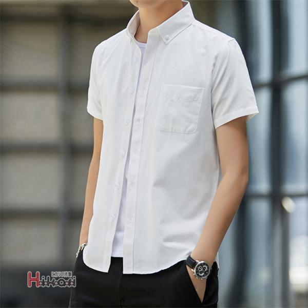 半袖シャツ メンズ ワイシャツ カジュアルシャツ 開襟シャツ 40代 50代 部屋着 無地シャツ 夏服 細身 お兄系 シャツ 夏|otasukemann|20