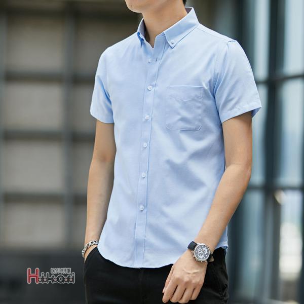半袖シャツ メンズ ワイシャツ カジュアルシャツ 開襟シャツ 40代 50代 部屋着 無地シャツ 夏服 細身 お兄系 シャツ 夏|otasukemann|21