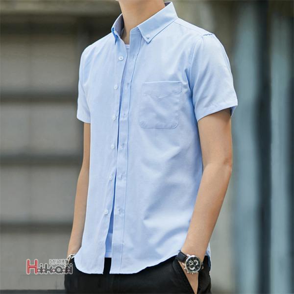 半袖シャツ メンズ ワイシャツ カジュアルシャツ 開襟シャツ 40代 50代 部屋着 無地シャツ 夏服 細身 お兄系 シャツ 夏|otasukemann|22