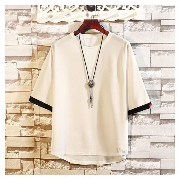 メンズTシャツ 半袖 カジュアル カットソー クルーネック 大きいサイズ T-shirt 半袖Tシャツ サマー お兄系 部屋着 夏物 送料無料|otasukemann|15