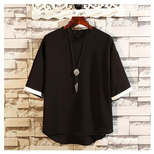 メンズTシャツ 半袖 カジュアル カットソー クルーネック 大きいサイズ T-shirt 半袖Tシャツ サマー お兄系 部屋着 夏物 送料無料|otasukemann|18