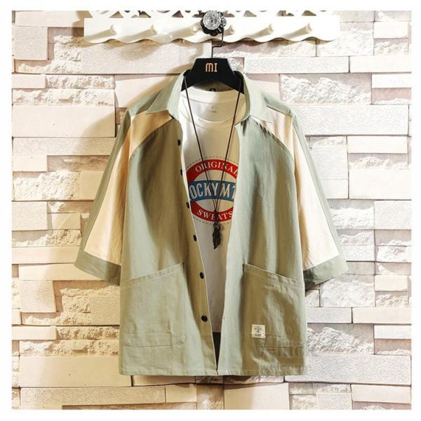 ワークシャツ 半袖 メンズ カジュアルシャツ 開襟シャツ 七分袖 トップス 半袖シャツ おしゃれ 40代 50代 夏 新作|otasukemann|17