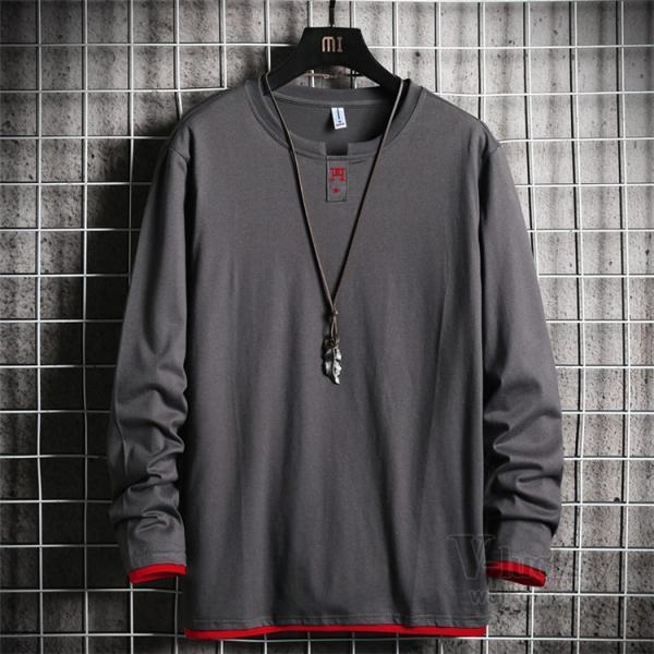Tシャツ メンズ 長袖 ロングTシャツ カジュアル トップス ティーシャツ スリム 長袖Tシャツ 薄手 紳士 春秋|otasukemann|25
