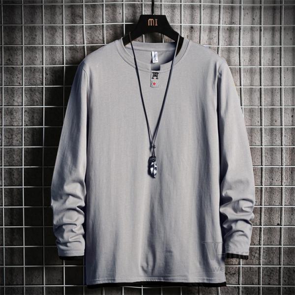Tシャツ メンズ 長袖 ロングTシャツ カジュアル トップス ティーシャツ スリム 長袖Tシャツ 薄手 紳士 春秋|otasukemann|20
