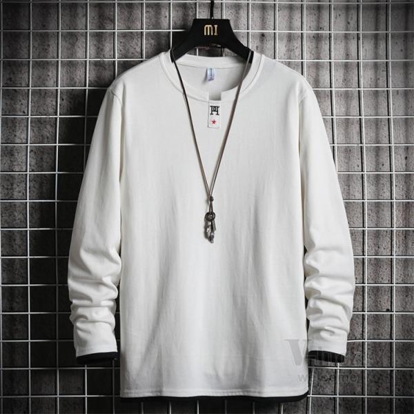 Tシャツ メンズ 長袖 ロングTシャツ カジュアル トップス ティーシャツ スリム 長袖Tシャツ 薄手 紳士 春秋|otasukemann|21