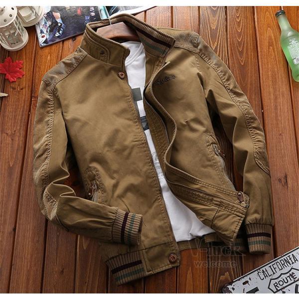 ミリタリージャケット メンズ フライトジャケット ジャンパー ファッション スイングトップ お兄系 アウター 欧米風|otasukemann|17