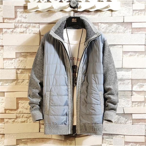 中綿ジャケット メンズ ジャケット アウター ダウン風 ブルゾン 切り替え 立ち襟 裏起毛 秋冬 送料無料|otasukemann|22