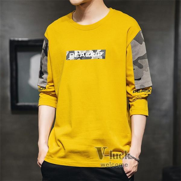 Tシャツ メンズ クルーネック 長袖 ロングTシャツ カジュアル ロンT トップス 長袖Tシャツ 部屋着 春秋 送料無料|otasukemann|23