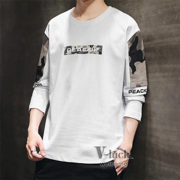 Tシャツ メンズ クルーネック 長袖 ロングTシャツ カジュアル ロンT トップス 長袖Tシャツ 部屋着 春秋 送料無料|otasukemann|22