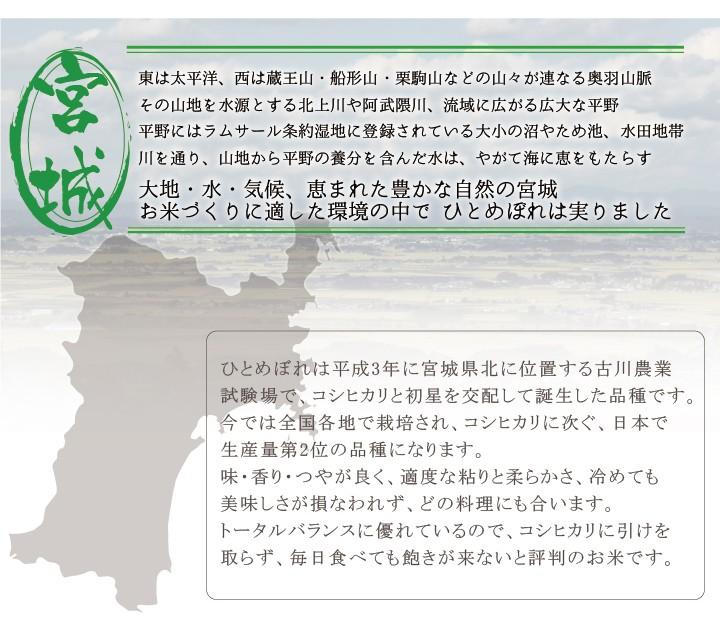 宮城県産ひとめぼれ新米