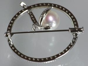 南洋パール ダイヤ ブローチ バック