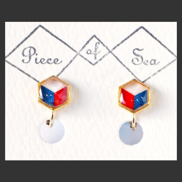 peace of sea S六角形 ピアス/イヤリング ネコポス|otr-ishinomaki|04