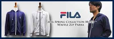 FILA 2016 spring collection waffle zip parka