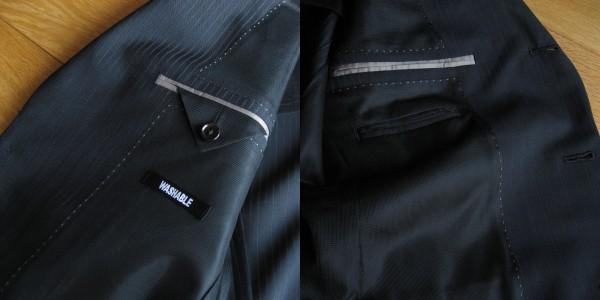 ジャケット左右内ポケット