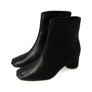 センターシーム スクエアトゥ ブーツ レディース 黒 白 靴 ショートブーツ 旅行 送料無料|welleg from アウトレットシューズ