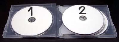 マルチ CDケース 6枚用 スーパークリア