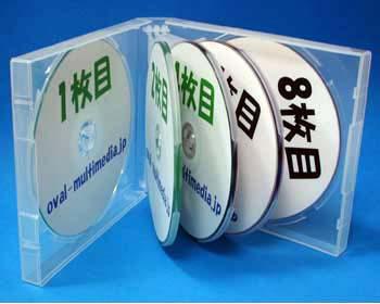 8枚収納 CD/DVDケース