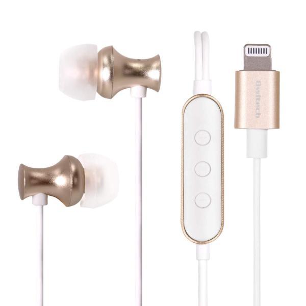 イヤホン ライトニングコネクタ用 有線 iPhone iPad iPod Lightningコネクタから音楽を聴けるイヤホン リモコン+マイク 宅C|owltech|09