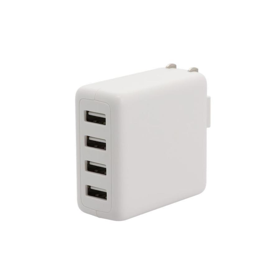 USB充電器 ACアダプタ Type-A×4ポート MOTTERU 宅C owltech 10