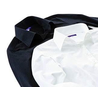 ストレスフリーのニットシャツ
