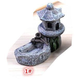 DIY テラリウム フィギュア  ドールハウス ミニチュア 箱庭用 建物 模型 灯篭 苔テラリウム アクアリウム スノードーム コケ 苔 ハンドメイド DIY p-comfort 12