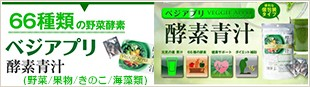 ベジアプリ 酵素青汁 66種の野菜酵素 (野菜/果物/きのこ/海藻類)