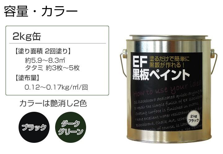 EF黒板塗料2kg