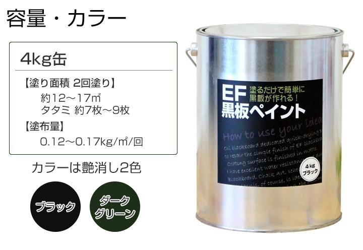 EF黒板塗料4kg