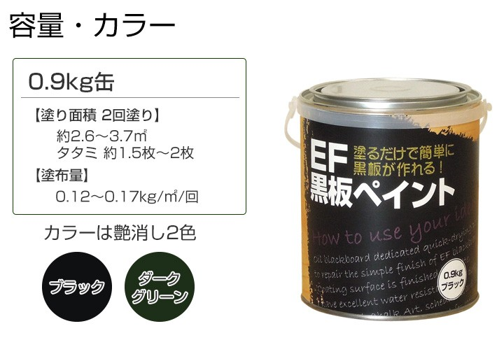 黒板塗料0.9kg+ペイントうすめ液