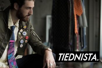 TIEDNISTA タイドニスタ 日本製 シルク ジャガード ネクタイ
