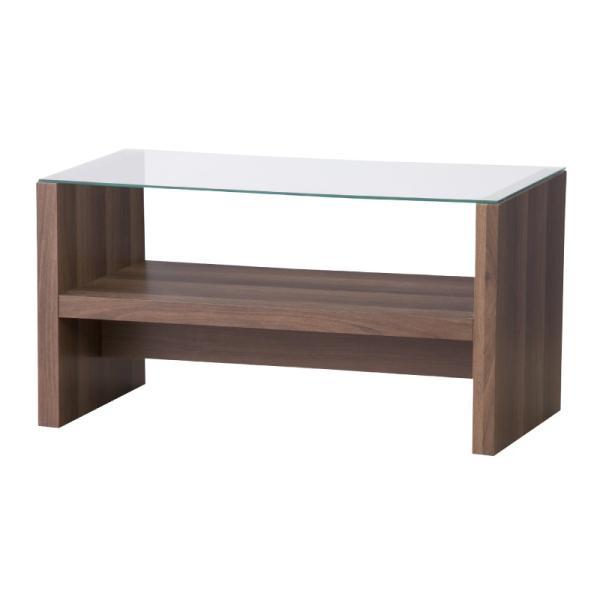 テーブル ガラス ローテーブル センターテーブル おしゃれ 木製 収納付き 75|palette-life|07
