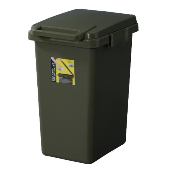 ゴミ箱 おしゃれ キッチン 45リットル 屋外 分別 フタ付き ダストボックス 連結 シンプル|palette-life|23