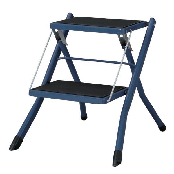 脚立 踏み台 折りたたみ おしゃれ ステップ台 2段 折りたたみ踏み台 ステップスツール 耐荷重100kg|palette-life|21
