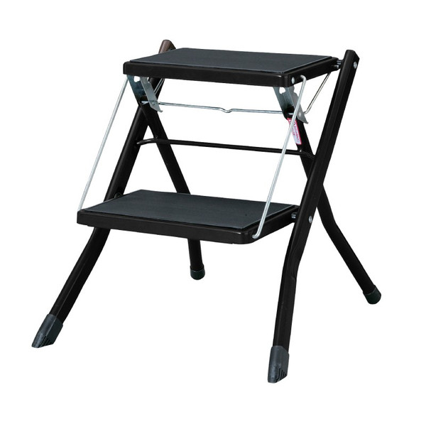 脚立 踏み台 折りたたみ おしゃれ ステップ台 2段 折りたたみ踏み台 ステップスツール 耐荷重100kg|palette-life|24