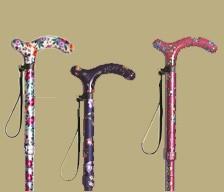 総花柄伸縮杖