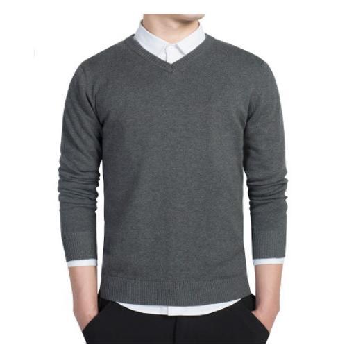 セーター Vネック メンズ スクール ビジネス コットン100% ニットセーター 長袖 無地 吸水吸湿 制服 黒 グレー ネイビー プレゼント ギフト バレンタイン  |b01|pandafamily|15