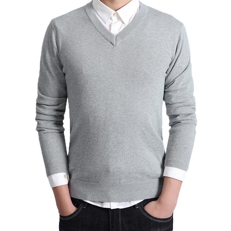セーター Vネック メンズ スクール ビジネス コットン100% ニットセーター 長袖 無地 吸水吸湿 制服 黒 グレー ネイビー プレゼント ギフト バレンタイン  |b01|pandafamily|14