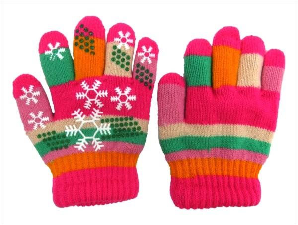 8ba42c164384df 手袋 赤ちゃん ベビー キッズ 男の子 女の子 5指 ミトン型 全31色 雪の結晶 ストライプ柄 子供用 通園 お出かけ 冬 可愛い デザイン b01  /【Buyee】